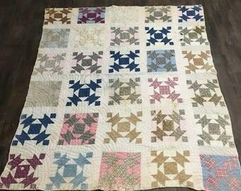 Handmade Quilt / Homemade Quilt / Antique Quilt / Old Quilt /