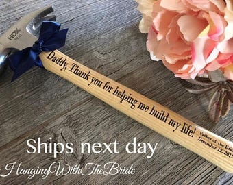 Personalized Hammer, Customized Engraved Hammer, Father of the Groom,  Father of the Bride Gift, Anniversary Gift, Father's Day gift, groom