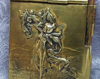 Art Nouveau Fairy Dance Card Case Necklace
