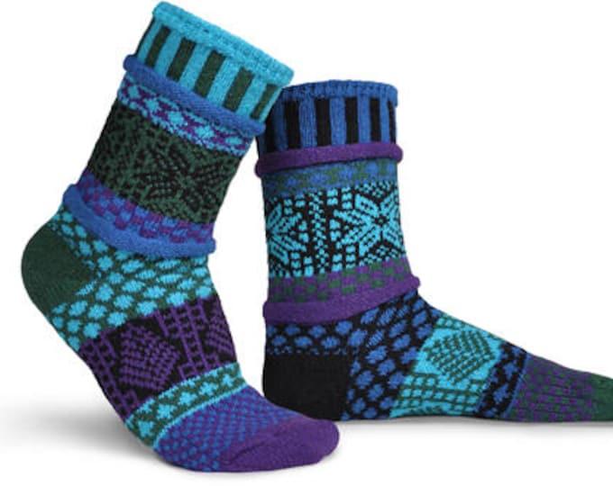 Solmate Socks - Blue Spruce Crew