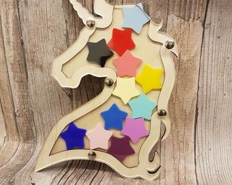 Unicorn Children's Reward Jar, Reward Chart, Reward Box, Reward System, Potty Training, Good Behaviour Reward Chart, Chore Chart