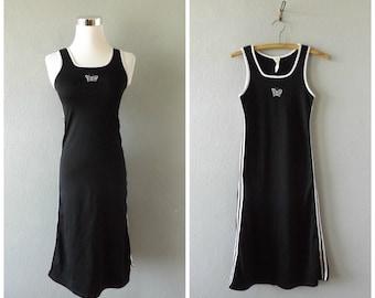butterfly club kid dress - vintage 90s black white stretchy column maxi dress - size xs / extra small - vaporwave goth punk - 1990s grunge