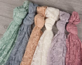 Rose Lace Wrap for Newborn Photography