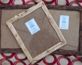 """Rustic/driftwood style frames in locally sourced,recycled pine.Medium dark or clear beeswax finish.To fit 10""""x12"""""""