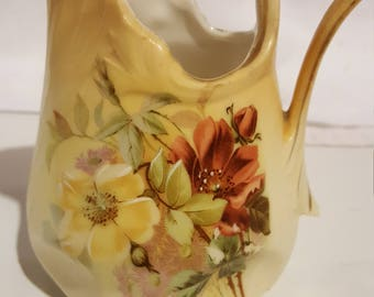 Vintage Floral Creamer, Unmarked