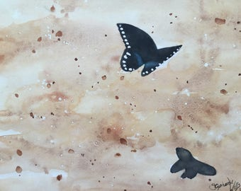 Butterfly Watercolor Painting