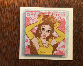 Fabric Disney Princesses Card's - see variations