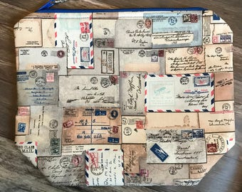 Air Mail Knitting or Crochet Project Bag