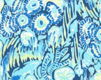 New Spring Indigo Sunset Swim Spring 2017 cotton dobby  9 X 18 inches  ~ Lilly Pulitzer~
