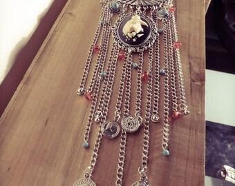 Necklace chains silver boho chic Harry Potter phoenix ♰Serdaigle♰ star