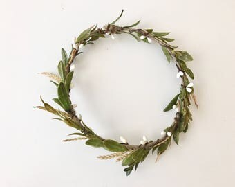 Simply garden flower crown- flower crown- greenery crown