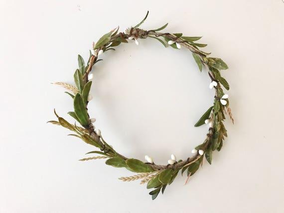 Simply garden flower crown- flower crown- greenery crown