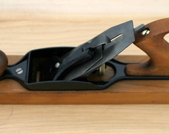 "Antique Stanley Carpenters No. 27 Wooden TRANSITIONAL JACK PLANE 15"" with 2 1/8"" Blade Perfect for Stanley Collectors Very Fine Condition"