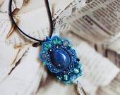 Soutach pendant with dumo...