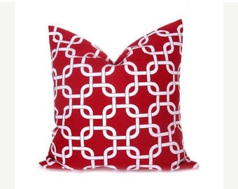15% Off Sale RED PILLOW, Decorative pillow covers, Red pillow covers, Cushion  Lattice - Christmas - Home Decor - Pillow Sham - Euro