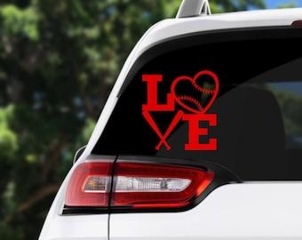 Baseball Love Decal, Baseball Love, Car Decal, Laptop Decal, Baseball Decal