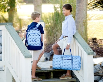 Boys Monogrammed Backpack, Bookbag, Personalized Backpack, Monogrammed Gifts, Back to School, Preppy Backpack, School Supplies