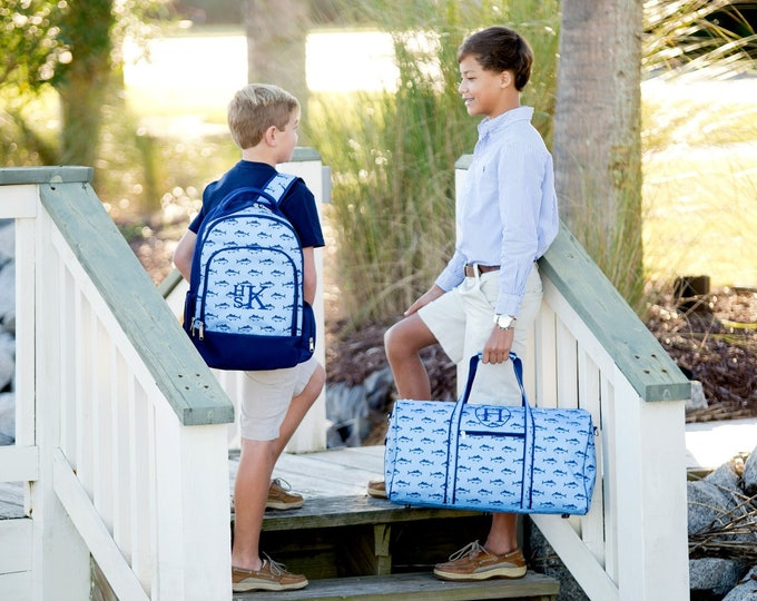 Boys Monogrammed Backpack, Bookbag, Personalized Backpack, Monogrammed Gifts, Back to School, Preppy Backpack, School Supplies