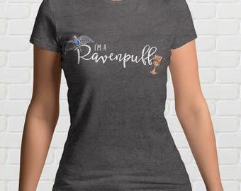 I'm A RAVENPUFF Ladies T-Shirt | Ravenclaw and Hufflepuff | Harry Potter Gift