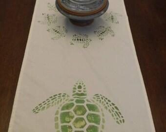 Loggerhead Turtle Table Runner 4 foot
