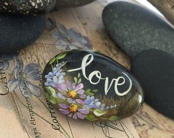 Painted Rock, Love Rock, Wedding Rock, California Beach Rock, Rock Art,