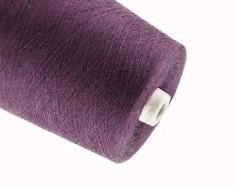 15%SALE Dark purple yarn natural linen  thread flax 1ply 2ply  3ply yarn crochet weaving knitting yarn