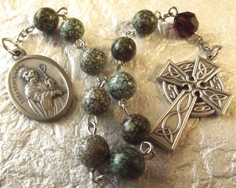 St. Green Stone One-Decade Rosary