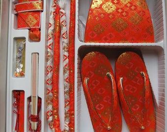 Set of Kimono accessiries for girl