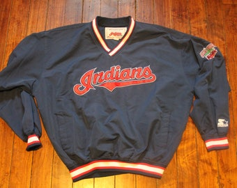 Cleveland Indians Starter pullover windbreaker MLB baseball lightweight jacket Medium