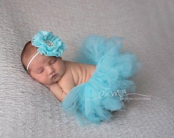 Aqua newborn tutu set, you choose color tutu set, baby tutu set, Aqua tutu, first birthday tutu set, tutu set, photo prop, tutu