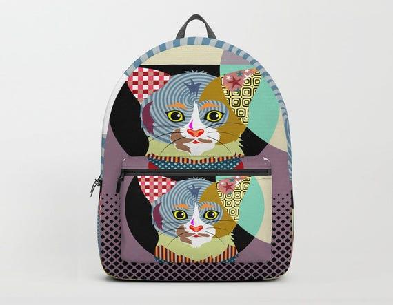 Cat Backpack, Cat Lover, Back to School Gifts, Kids Backpack, Girls Backpack, Boys Backpack, Backpack Men, Pet Backpack, Animal Backpack