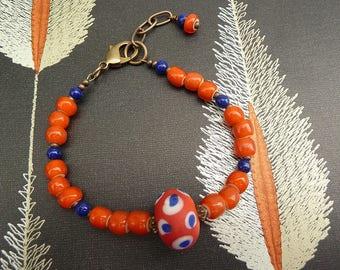 UF Bracelet, Gator Bracelet, UF Gator Bracelet, UF Gator, Florida Gator, Florida U Bracelet, Orange and Blue, Beaded Bracelet, Boho, Summer