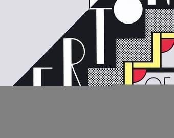 Roy Lichtenstein-Merton of The Movies-1968 Foil Print