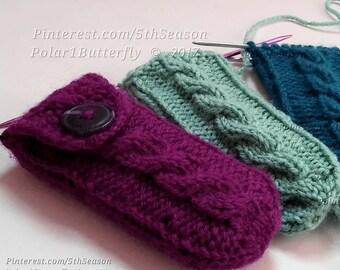 Pax 2 / Pax 3 Vaporizer Cover,  Ploom Pax Case, Vape Cozy Hand Knit in Purple Plum, Pax Accessories