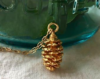 Vintage pinecone charm