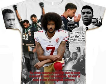Colin Kaepernick T Shirt.  With Muhammad Ali and 68 Olympics. Colin Kaepernick Shirt.