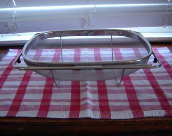 Vintage metal vegetable sink strainer expandable kitchen utensils cookware mesh strainer