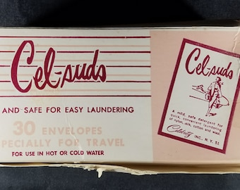 Cel-suds Detergent for Travel 1950s
