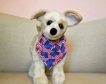 4th of July Dog Bandana Small Red White Blue  Stars And Stripes