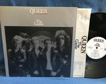 "Vintage, Queen - ""The Game"" Vinyl LP Record Album, Another One Bites The Dust, Crazy Little Thing Called Love, Save Me, Freddie Mercury"