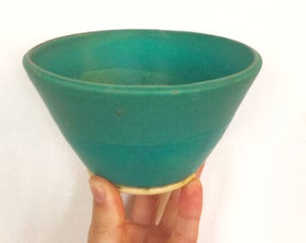 Teal Ceramic Cereal Bowl