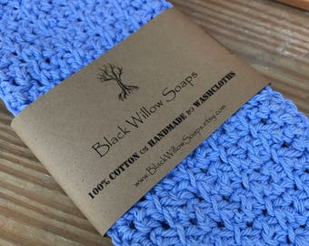 "Cornflower Blue Skin Care Cloth, 9x9"", Skin Care, Sensitive Skin, Face Care, Reusable Wipes, Personal Care, Face Cloth, Natural Skin Care"
