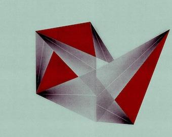 Geometric Art, Mid Century Wall Art, Abstract Geometric, Wall Art, Large Print, Minimalist Art, Geometric Print, Limited Edition (20)