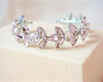Pink Rhinestone Cuff Bracelet,Pink Bridal Cuff,Pink Wedding Cuff,Pink Crystal Cuff,Pink Jewelry,Pink Bracelet,Bridal Cuff Bracelet
