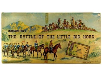Battle of Little Big Horn Classic Vintage 60s Retro Board Game from Waddingtons