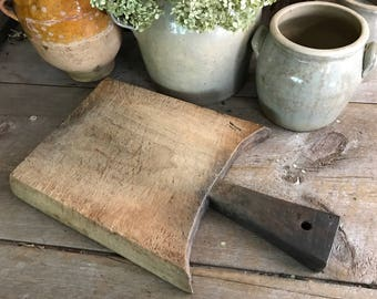 French Wood Chopping Board, Cutting, Serving, Rustic French Farmhouse Cuisine