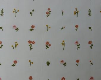 1/2 Yard Organic Cotton Fabric - Birch Fabrics Little - Morning Bloom Poplin