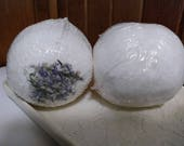 Tropical with Lavender buds large bath bomb with crushed lavender, gift, wedding,  Christmas,  birthday,  spa relaxation gift, bubbling