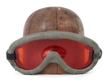 1944 US WWII USAAF Polaroid Pilot Gunners Goggles with Orange Lens no. 274