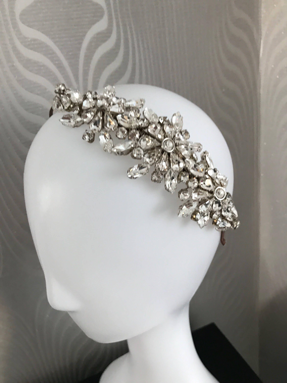 Hair accessories headbands uk - Bridal Tiara Crystal Bridal Headband Wedding Tiara Hair Accessories Bridal Headband The Handmade